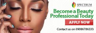 Admission open at Spectrum Beauty Academy Lagos Nigeria